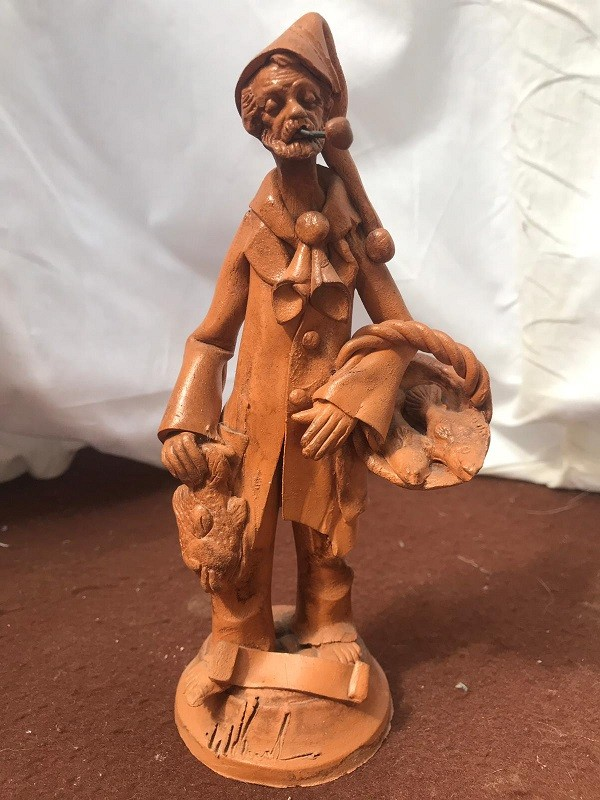 Pescivendolo in terracotta