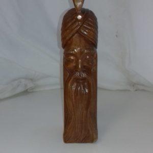 Volto indiano in legno