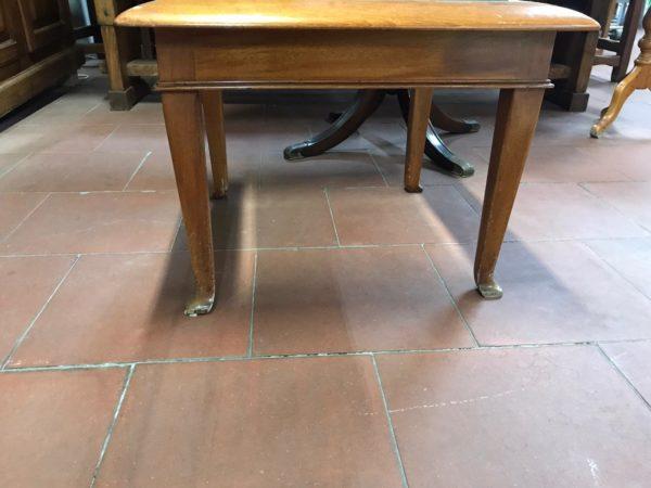 Tavolino vintage in legno e vetro