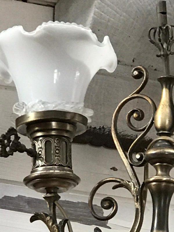 Lampada liberty in ottone