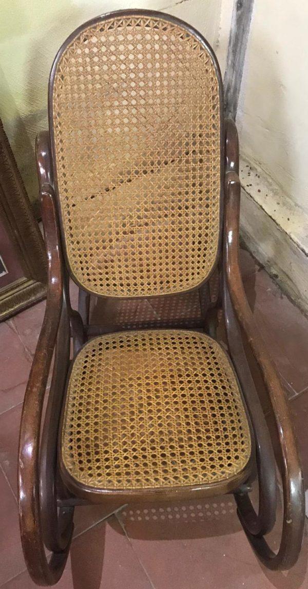 Sedia a Dondolo in Legno Adami Vienna Noce