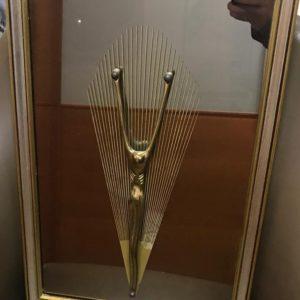 Quadro religioso a specchio