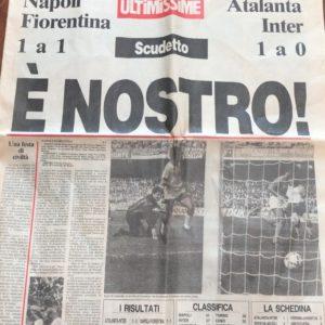 """Giornale """"Vittoria del Napoli del '87"""""""