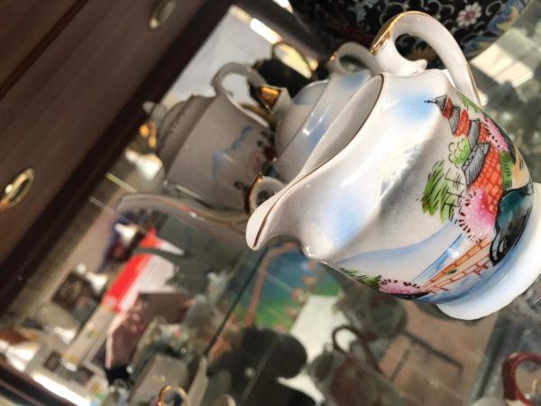 SERVIZIO DA CAFFE' PORCELLANA GIAPPONESE